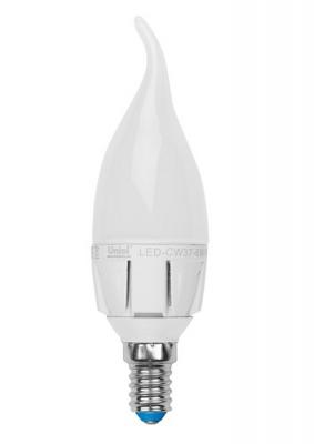 Лампа светодиодная Uniel Led-cw37-6w/ww/e14/fr/dim plp01wh лампа светодиодная uniel led cw37 6w nw e14 fr dim plp01wh