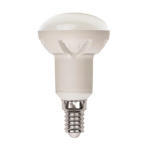 Лампа светодиодная Uniel Led-r50-6w/ww/e14/fr/dim plp01wh лампа светодиодная uniel led cw37 6w nw e14 fr dim plp01wh