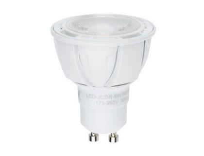 Лампа светодиодная Uniel Led-jcdr-6w/ww/gu10/fr/dim/38d alp01wh лампа светодиодная 07912 gu5 3 5w 3000k jcdr матовая led jcdr 5w ww gu5 3 fr alp01wh