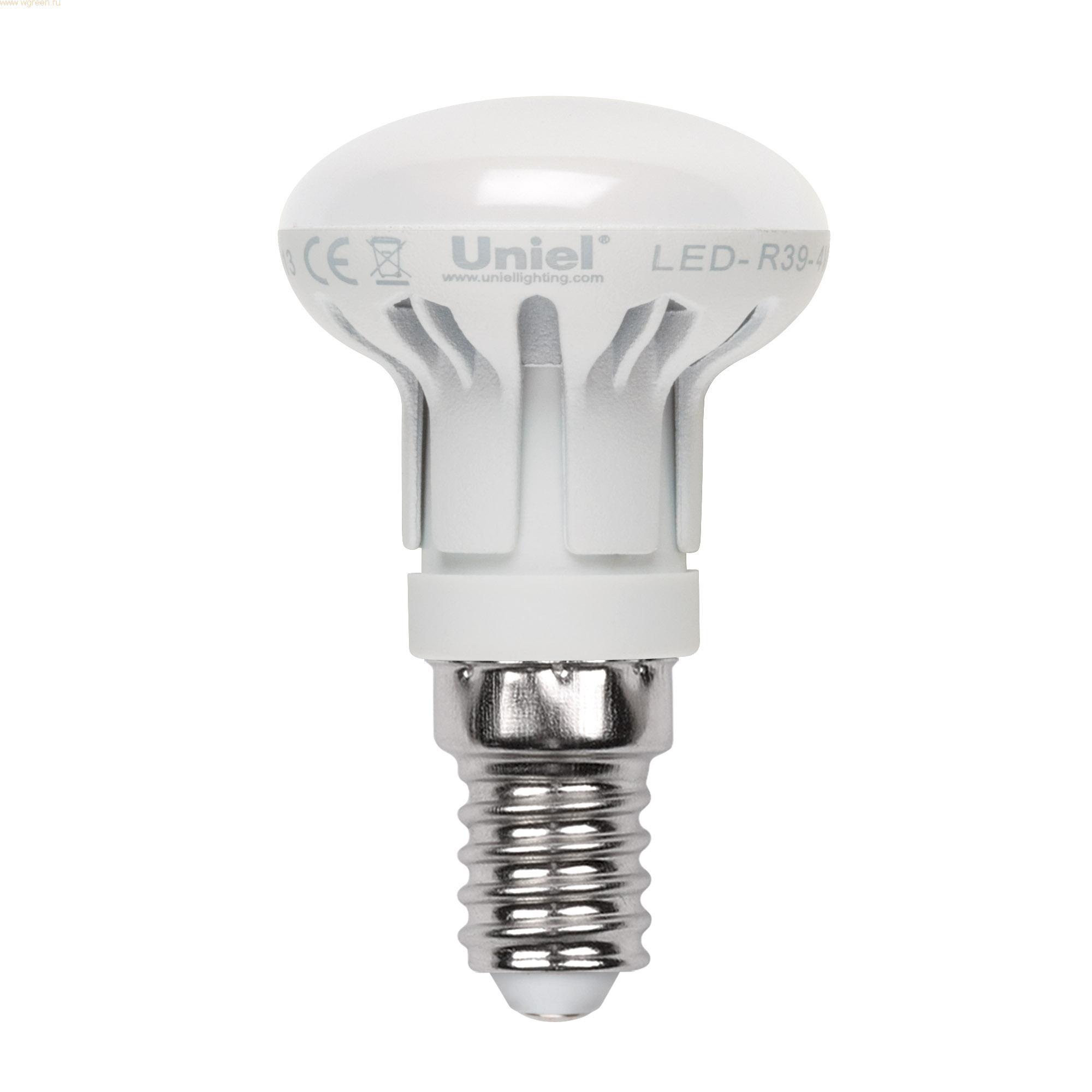 Лампа светодиодная Uniel Led-r39-4w/ww/e14/fr plp01wh