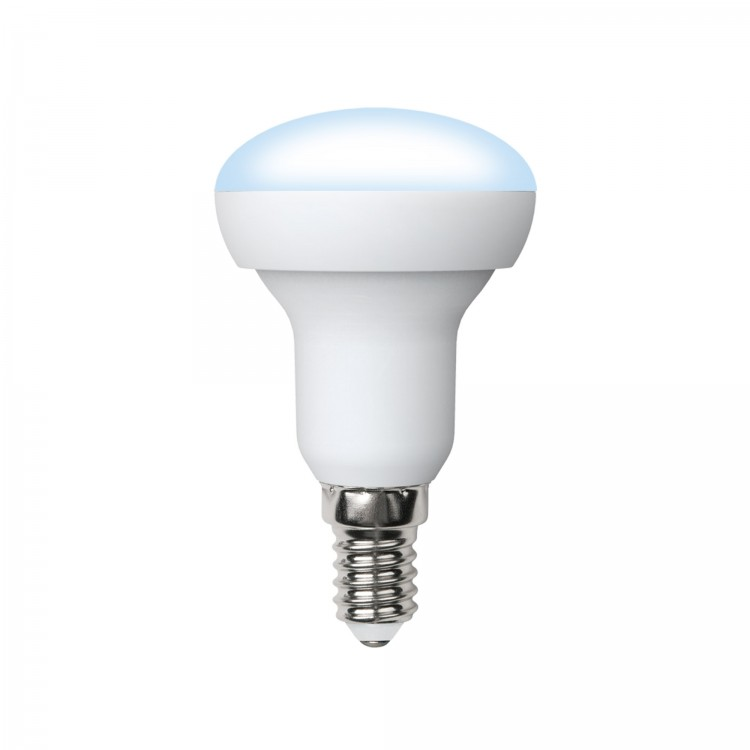 Лампа светодиодная Uniel Led-r50-6w/nw/e14/fr pls02wh лампа светодиодная uniel led cw37 6w nw e14 fr dim plp01wh