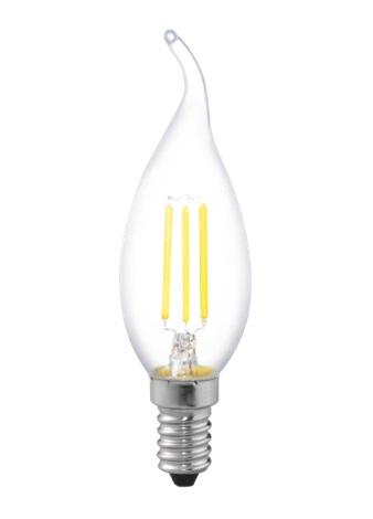 Лампа светодиодная Uniel Led-cw35-6w/nw/e14/cl pls02wh лампа светодиодная ul 00000200 e14 6w 3000k свеча на ветру прозрачная led cw35 6w ww e14 cl pls02w
