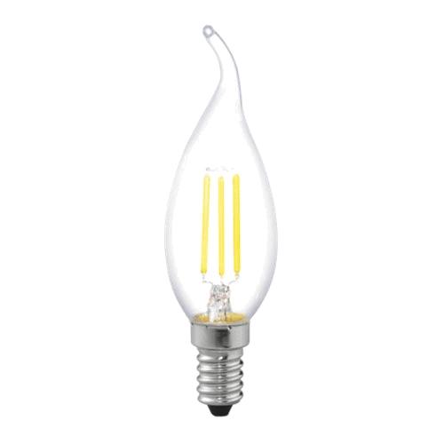 Лампа светодиодная Uniel Led-cw35-6w/ww/e14/cl pls02wh uniel лампа светодиодная 08137 e14 6w 3000k свеча на ветру матовая led cw37 6w ww e14 fr alm01wh
