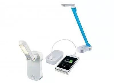 Лампа настольная Uniel Tld-530 blue-white