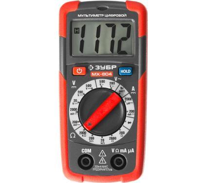 Мультиметр цифровой ЗУБР MX-804 59804 карманный