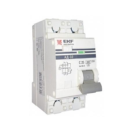 Диф. автомат Ekf Da32-25-30-pro выключатель ekf da32 16 10 pro