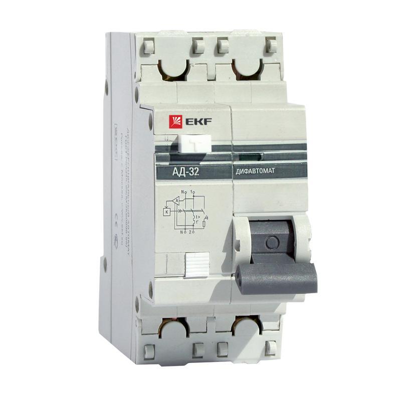 Диф. автомат Ekf Da32-32-100-pro выключатель ekf da32 16 10 pro