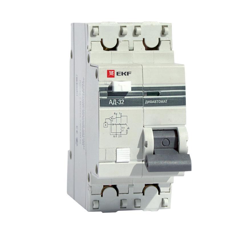 лучшая цена Диф. автомат Ekf Da32-63-30-pro