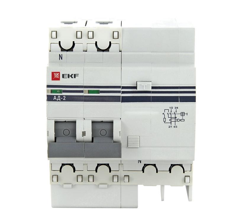 Диф. автомат Ekf Da2-25-30-pro