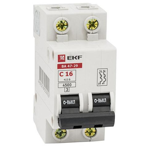 Выключатель Ekf Mcb4729-2-32c хомут ekf plc c o 3 6x200