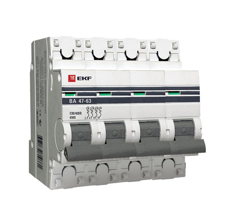 Выключатель Ekf Mcb4763-4-32c-pro розетка 1 ая с з с п 16а mono electric eco белый серебро