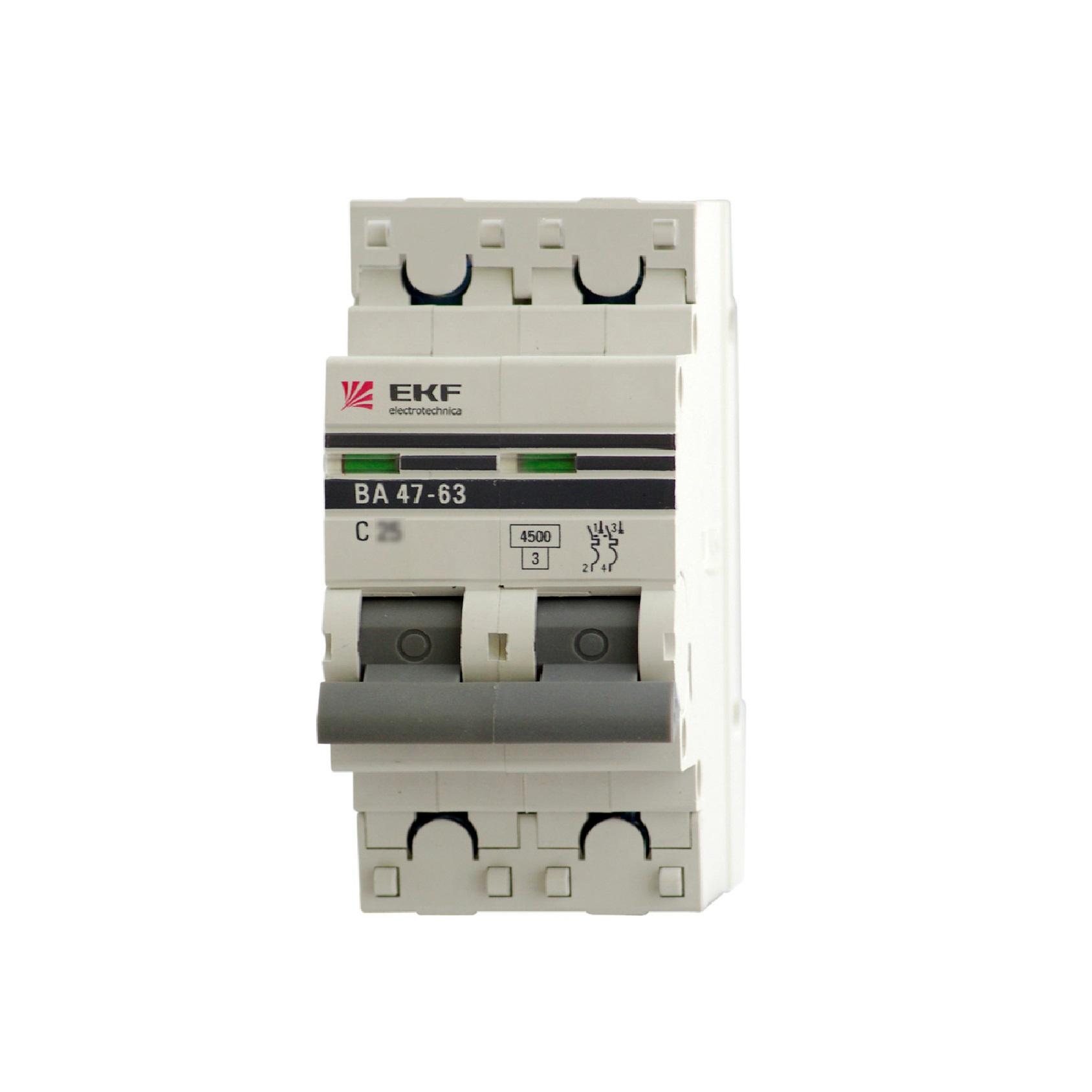 Выключатель Ekf Mcb4763-2-40c-pro