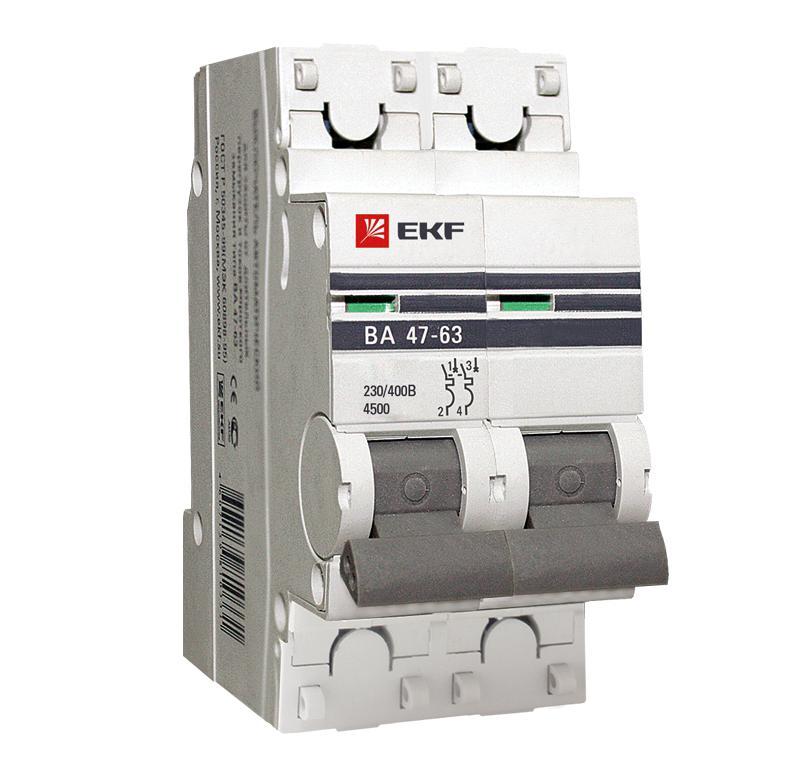 Выключатель Ekf Mcb4763-2-04c-pro smart sm402 04c