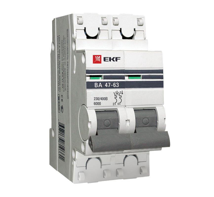 Выключатель Ekf Mcb4763-2-63d-pro