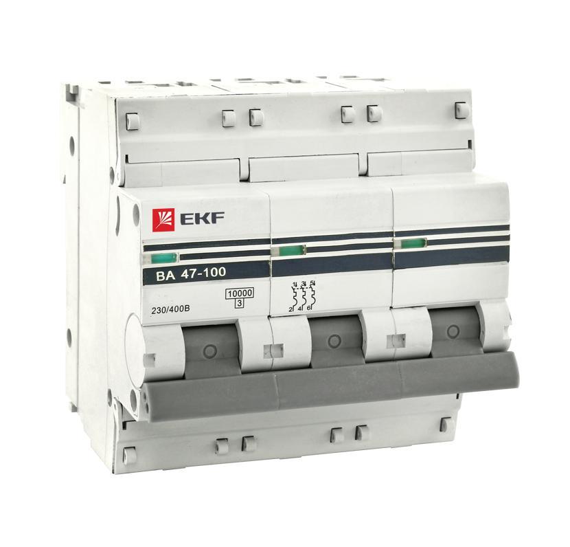 Выключатель Ekf Mcb47100-3-25c-pro