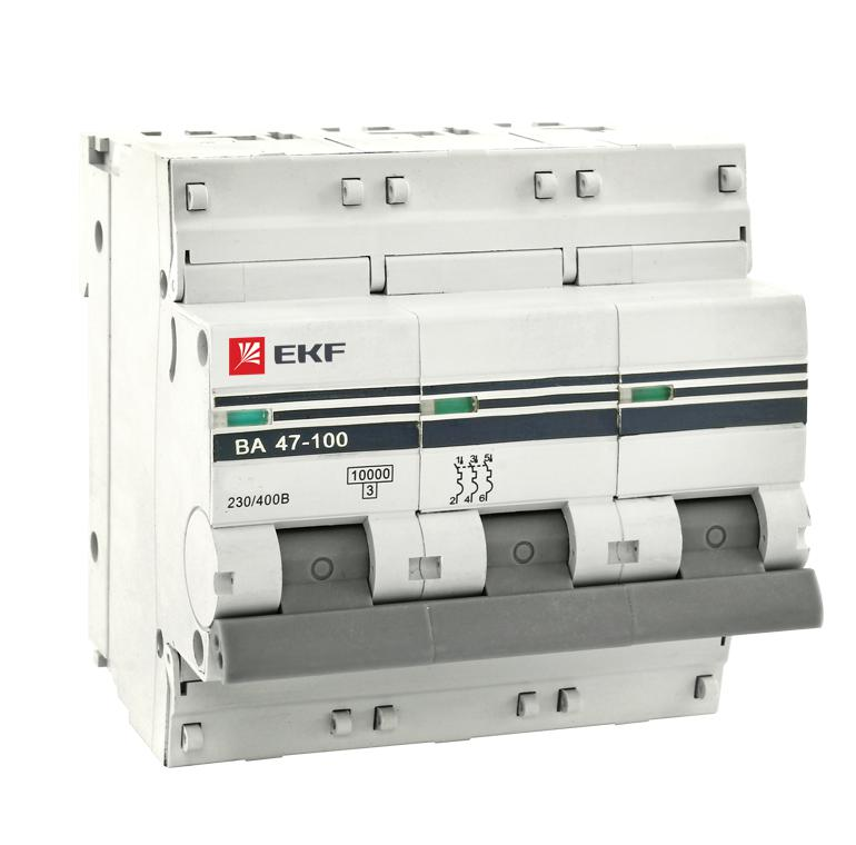 Выключатель Ekf Mcb47100-3-80c-pro