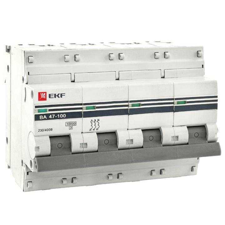 Выключатель Ekf Mcb47100-4-80c-pro чемодан samsonite чемодан 80 см pro dlx 4