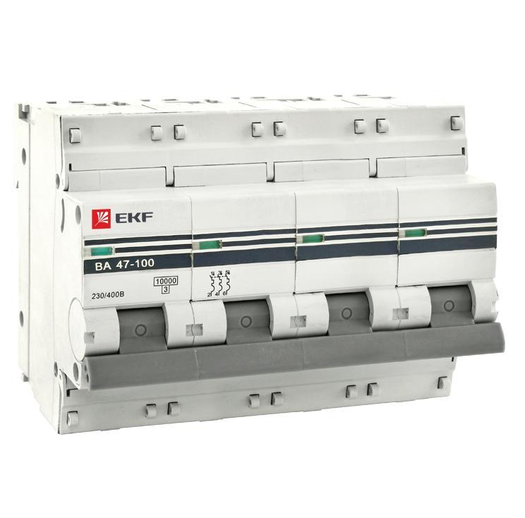 Выключатель Ekf Mcb47100-4-100c-pro