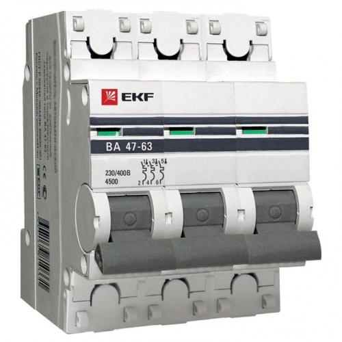 Автомат Ekf Mcb4763-3-63c-pro автомат ekf mcb47125 3 125c