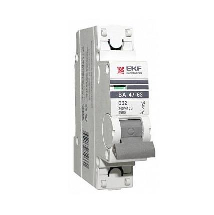 Выключатель Ekf Mcb4763-1-16В-pro