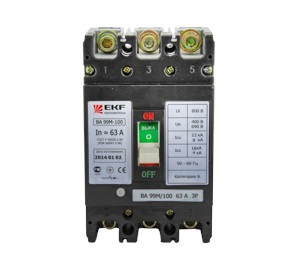 Автомат Ekf Mccb99-100-63m автомат ekf mccb99 63 50m