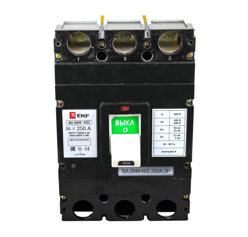 Выключатель Ekf Mccb99-400-250m 400 amp 3 pole cm1 type moulded case type circuit breaker mccb