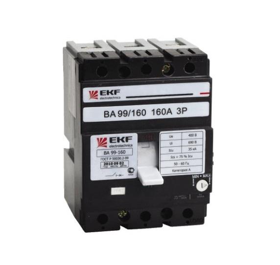 Выключатель Ekf Mccb99-160-125
