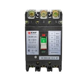 Автомат Ekf Mccb99-100-80m автомат ekf mccb99 400 250m
