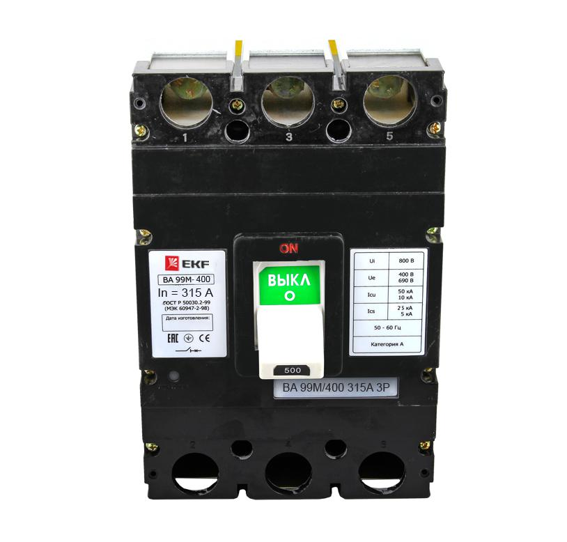Выключатель Ekf Mccb99-400-315m 400 amp 3 pole cm1 type moulded case type circuit breaker mccb