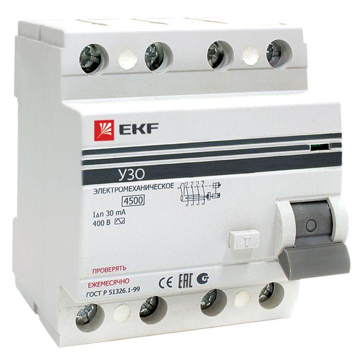 Выключатель Ekf Elcb-4-63-30-em-pro