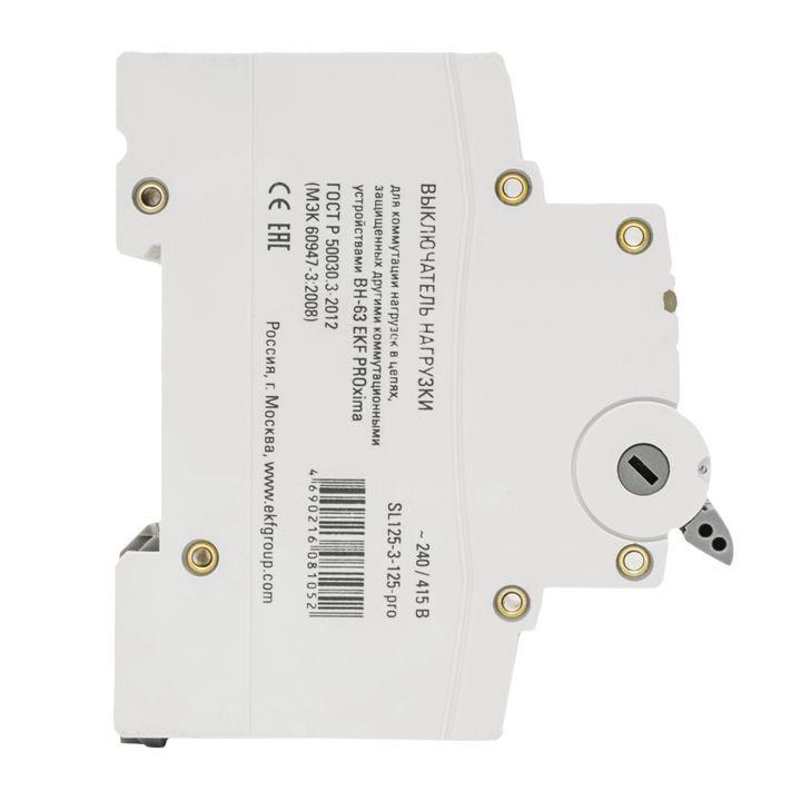 Выключатель Ekf Sl63-3-63-pro