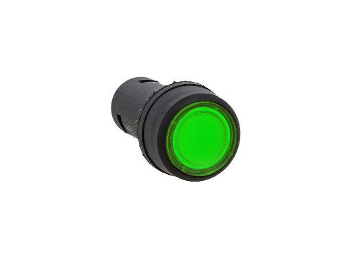 Зелёная кнопка с подсветкой NO EKF sw2c-md-g