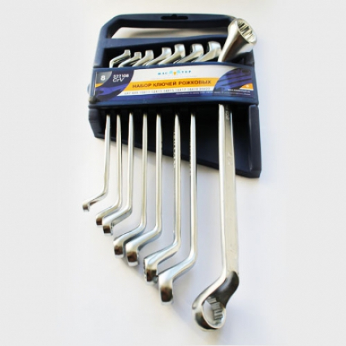 Набор ключей МАСТЕР КЛЮЧ МК522108 (6 - 22 мм) мини цикл ниппель ключ велосипед обод колеса 8 путь ключ ширина ключа repair tool