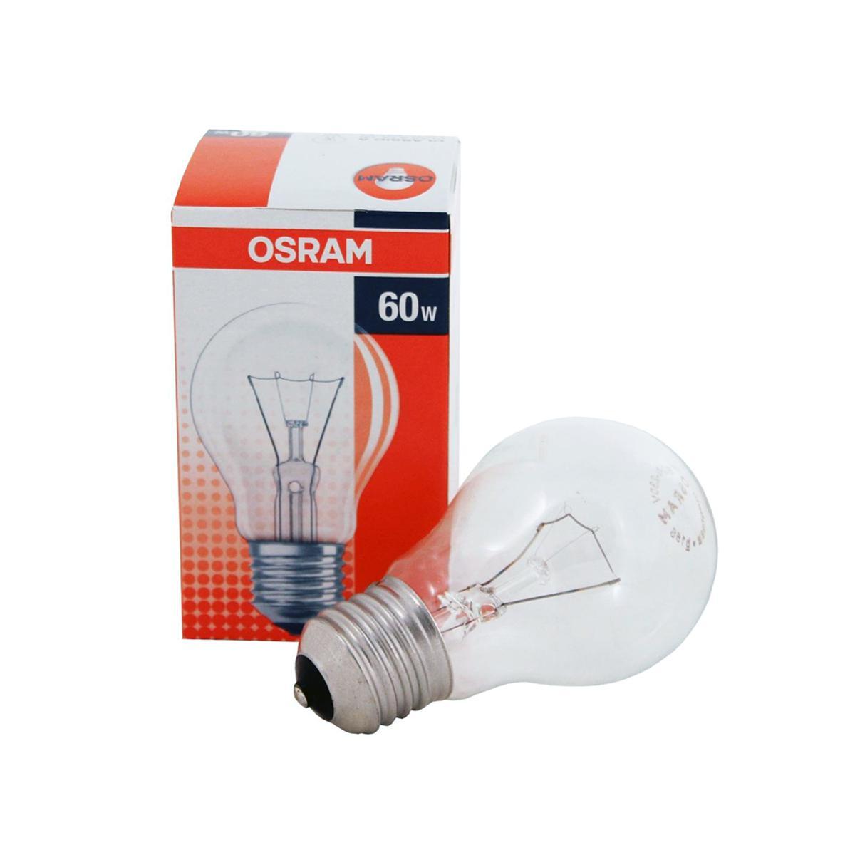 Лампа накаливания Osram Classic a cl 60w e27 лампы osram