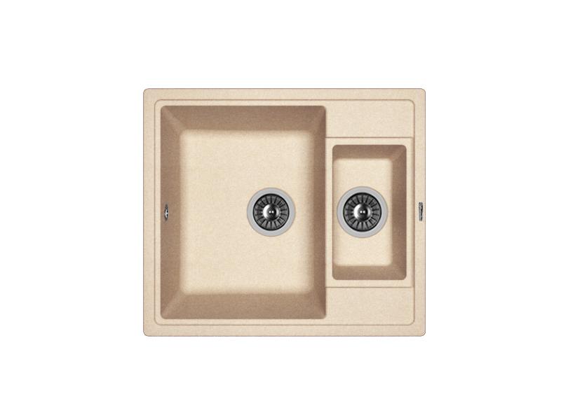 Мойка кухонная Florentina Липси-580 К песочный 3 обнаженный песочный