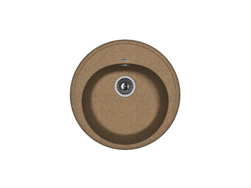 Мойка кухонная Florentina Лотос 510 коричневый