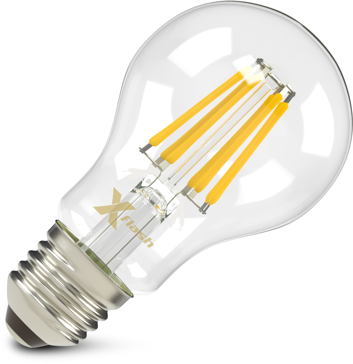 Лампа светодиодная X-flash Xf-e27-fl-a60-8w-2700k-230v 10шт люстра vitaluce 8 x e14 60 вт v1631 8