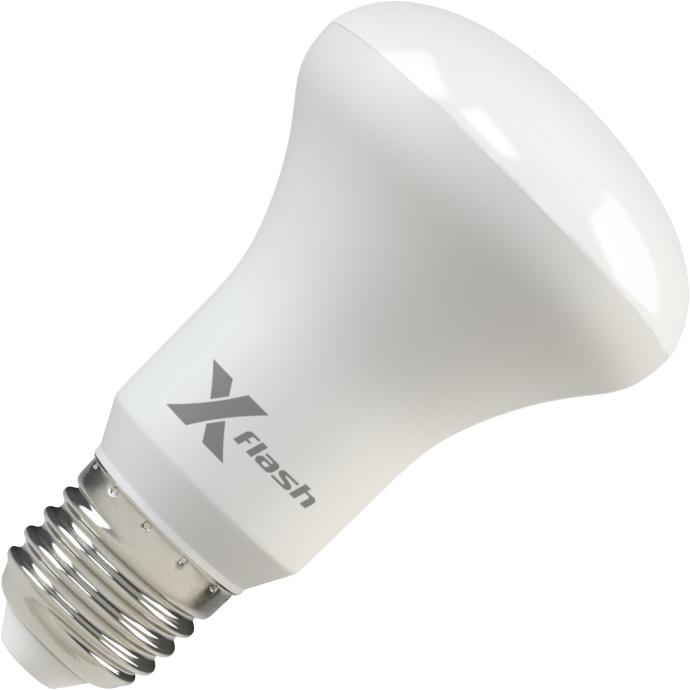 Лампа светодиодная X-flash Xf-e27-r63-p-8w-3000k-220v 10шт лампа светодиодная x flash xf e27 r90 p 12w 3000k 220v 10шт
