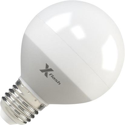 Лампа светодиодная X-flash Xf-e27-g70-p-8w-3000k-220v 10шт лампа светодиодная x flash xf e27 r90 p 12w 3000k 220v 10шт