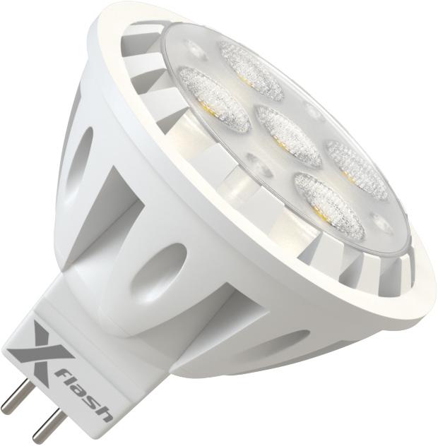 Лампа светодиодная X-flash Xf-spl-l-gu5.3-6w-3000k-12v лампочка x flash spotlight mr16 xf spl l gu5 3 6w 3000k 12v желтый свет линза 43507