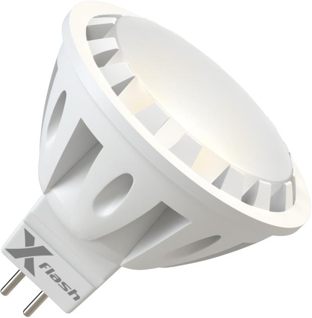 Лампа светодиодная X-flash Xf-spl-gu5.3-6w-3000k-220v лампочка x flash spotlight mr16 xf spl l gu5 3 6w 3000k 12v желтый свет линза 43507