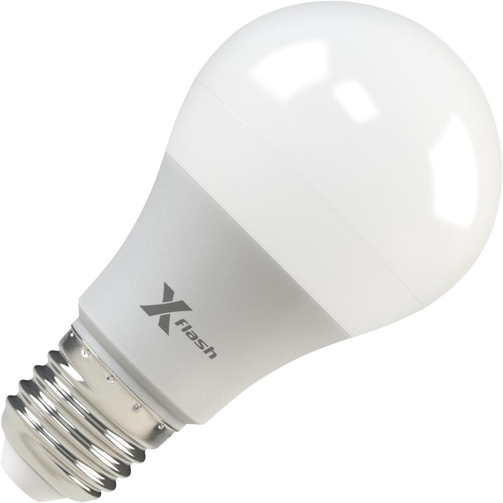 Лампа светодиодная X-flash Xf-e27-a60-p-8w-3000k-12v 10шт лампа светодиодная x flash xf e27 r90 p 12w 3000k 220v 10шт