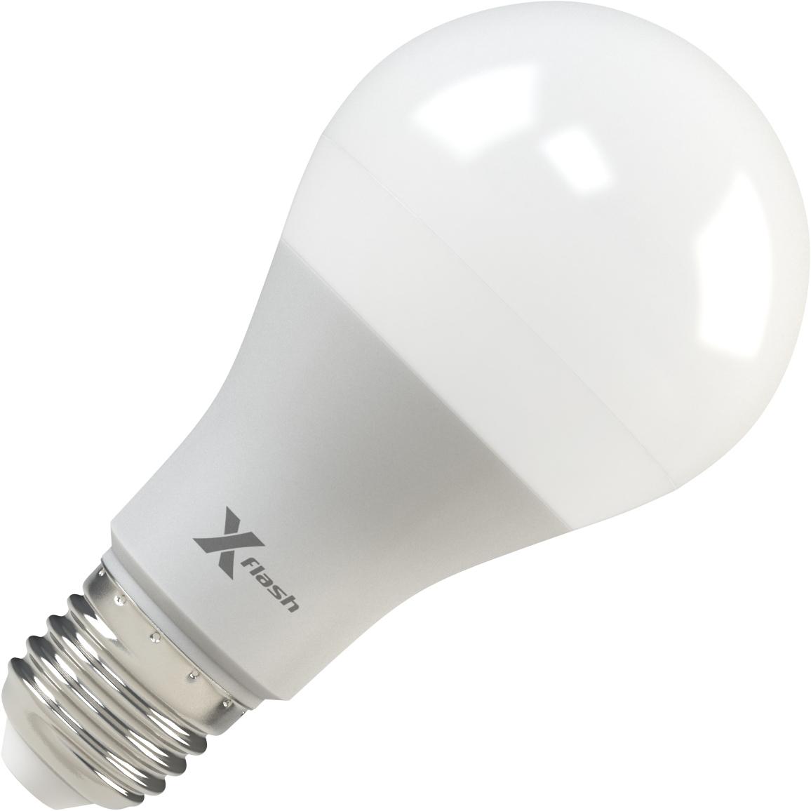 Лампа светодиодная X-flash Xf-e27-a65-p-12w-4000k-12v 10шт лампа светодиодная x flash xf e27 r90 p 12w 3000k 220v 10шт