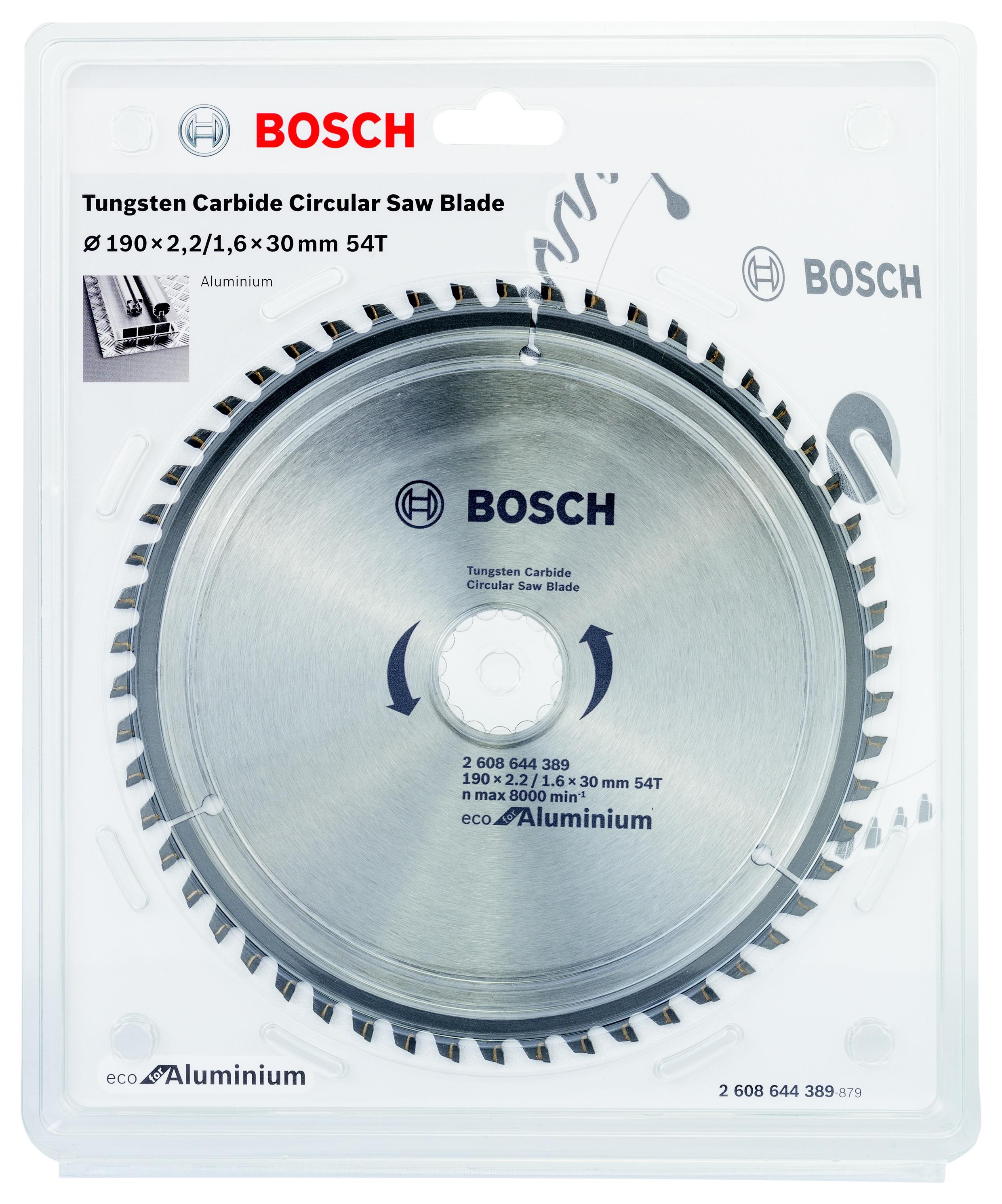 Диск пильный твердосплавный Bosch Eco al 190x30-54t (2.608.644.389) bosch eco 11c 101b
