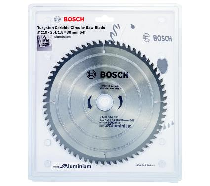 Диск пильный твердосплавный BOSCH Ф210х30мм 64зуб. (ECO AL 2608644391)