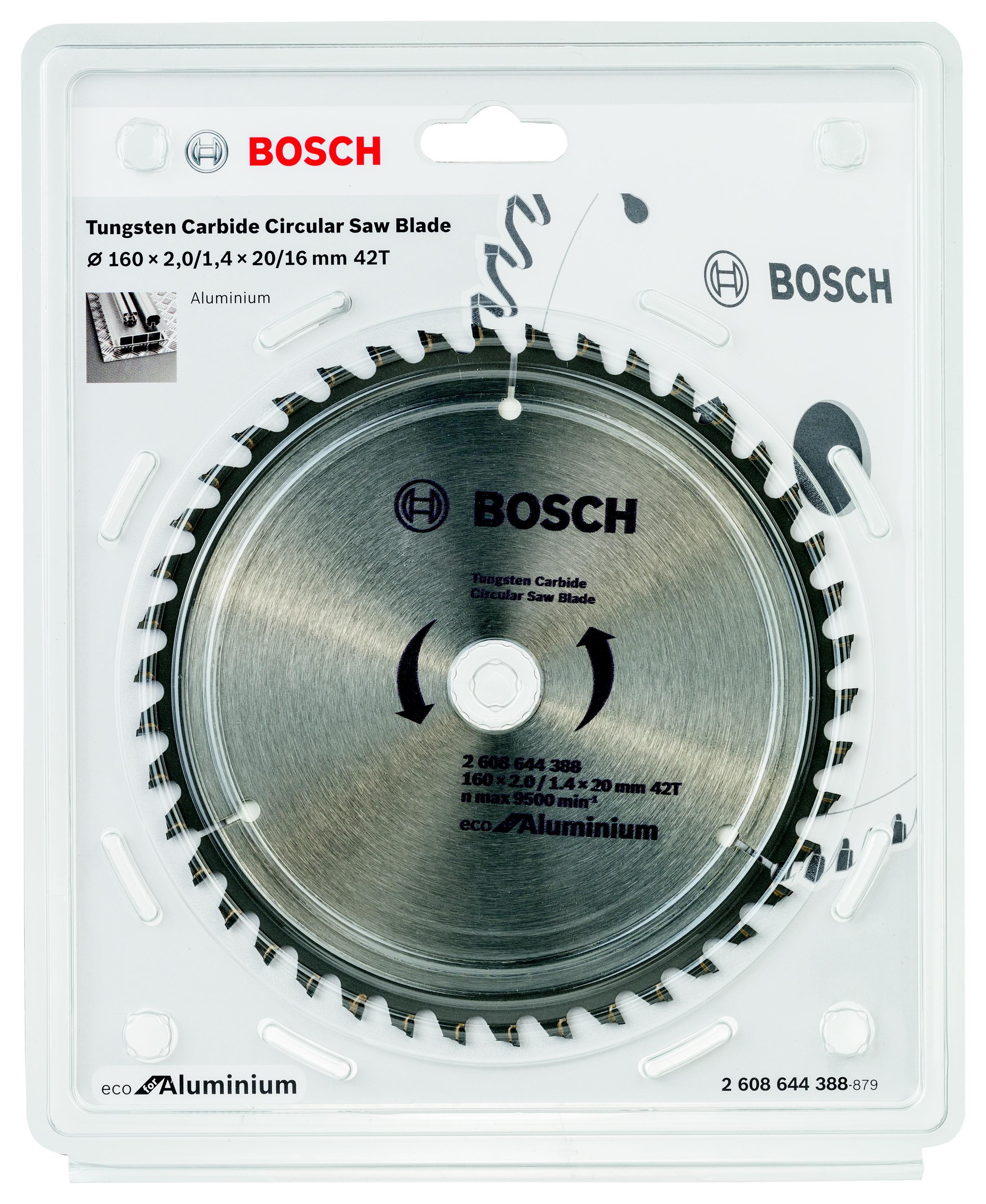 Диск пильный твердосплавный Bosch Eco al 160x20-42t (2.608.644.388)