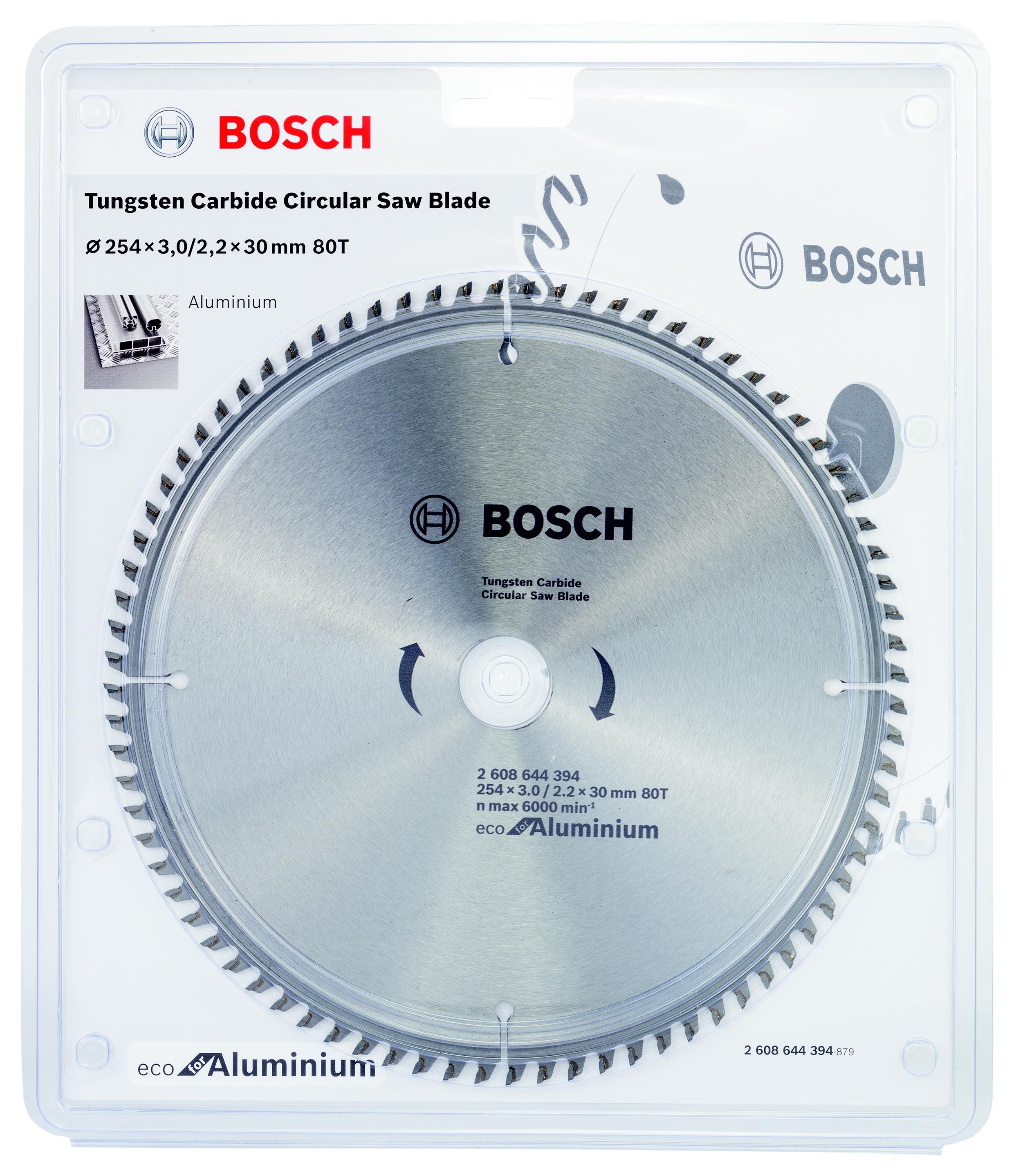 Диск пильный твердосплавный Bosch Eco al 254x30-80t (2.608.644.394) пильный диск eco wood 254x30 мм 40t bosch 2608644383
