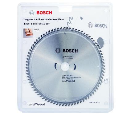 Диск пильный твердосплавный BOSCH Ф254х30мм 80зуб. (ECO WO 2608644384)