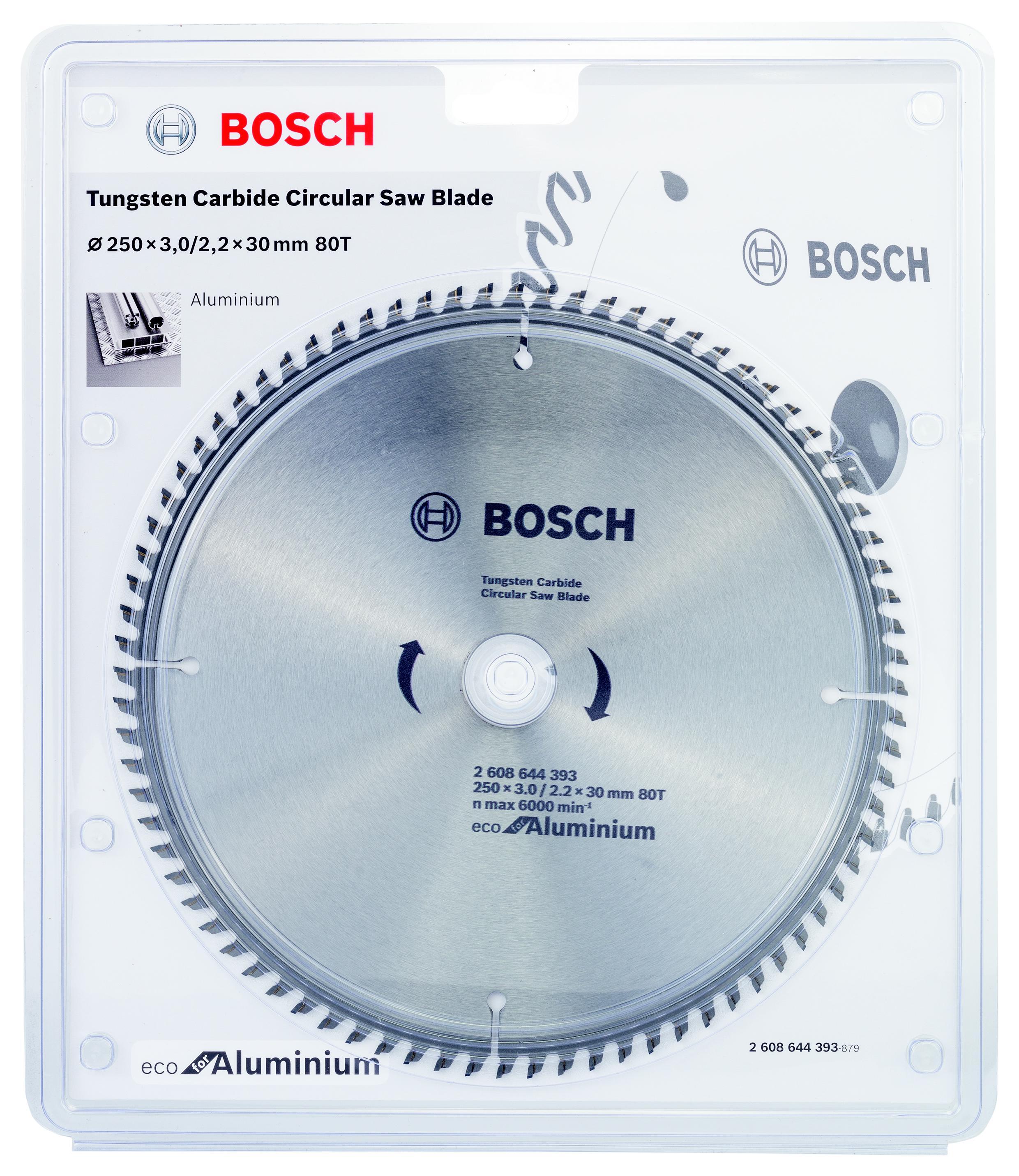 Диск пильный твердосплавный Bosch Eco al 250x30-80t (2.608.644.393) bosch eco 11c 101b