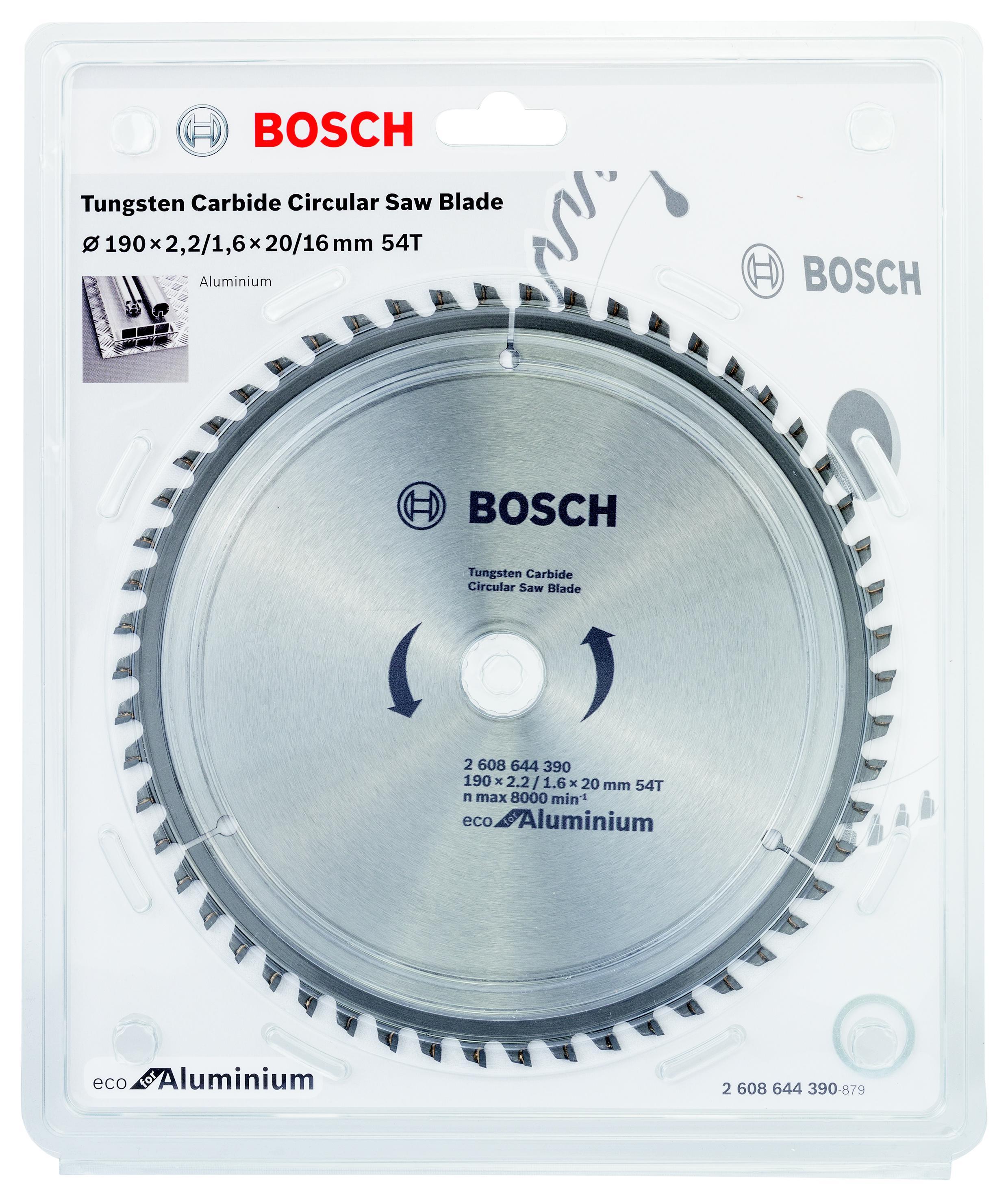Диск пильный твердосплавный Bosch Eco al 190x20-54t (2.608.644.390)
